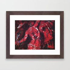 Nude in Red & Black Framed Art Print