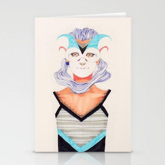 Hair Play 03 Stationery Card