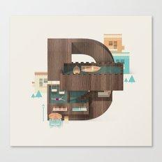 Resort Type - Letter D Canvas Print