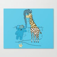 Snorkeling Buddies Canvas Print