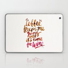 Coffee & Wine – Brown & Magenta Ombré Laptop & iPad Skin