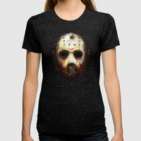 Jason Voorhees Womens Fitted Tee Tri-Black SMALL