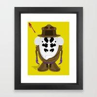 Mr Potato R. Framed Art Print