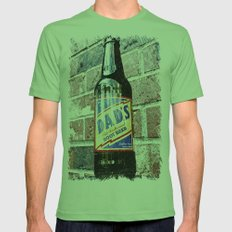 Retro root beer Mens Fitted Tee Grass SMALL