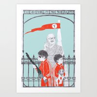 Art Print featuring Me and Julio Down By The Schoolyard by Mexican Zebra
