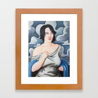 Cloud Cover Brings the Rain Framed Art Print