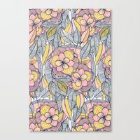 Pink And Peach Linework … Canvas Print