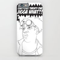 iPhone & iPod Case featuring Black To The Future by KENYONB