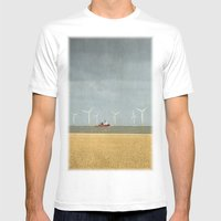 Scroby Sands Wind Farm, … Mens Fitted Tee White SMALL