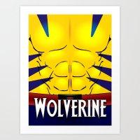 Wolverine X-Men Art Print