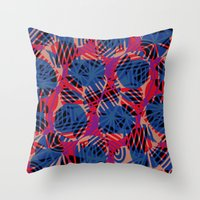 Scribble pattern. Throw Pillow