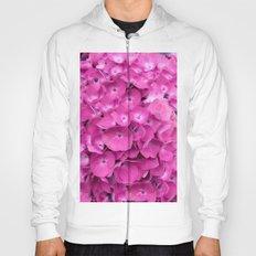 Artful Pink Hydrangeas Floral Design Hoody