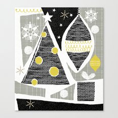 Achromatic Holidays Canvas Print