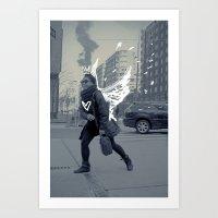TASHA the NY ANGEL Art Print