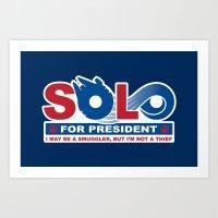 Solo for President Art Print