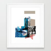 WRONG PLACE RIGHT TIME Framed Art Print