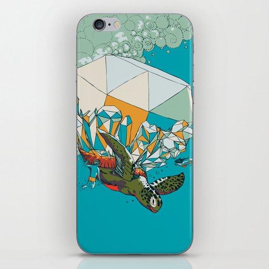 TURTLE& THE DIAMONDS iPhone & iPod Skin