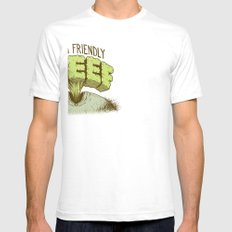 Just a Friendly Queef Mens Fitted Tee SMALL White