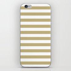Horizontal Stripes (Sand/White) iPhone & iPod Skin