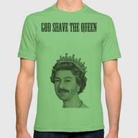 God Shave The Queen Mens Fitted Tee Grass SMALL