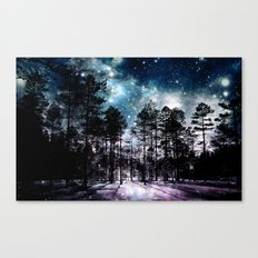 One Magical Night...(teal & lavender) Canvas Print