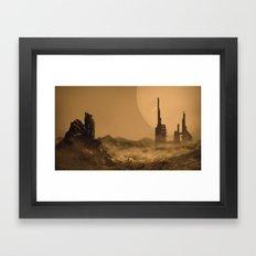 Abandoned Station Framed Art Print