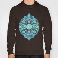 Through Ocean & Sky - turquoise & blue Moroccan pattern Hoody