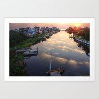 Sunset From Buccaneer Dr… Art Print