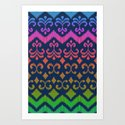 Ikat Rhythm & Blues Art Print