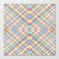 Weave 45 Mirror Canvas Print