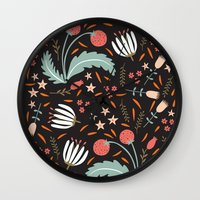 Floral Fusion Wall Clock