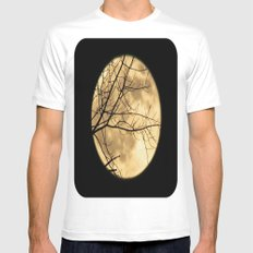Shadows on the Moon Mens Fitted Tee White SMALL