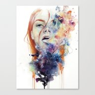 Canvas Print featuring This Thing Called Art Is… by Agnes-cecile
