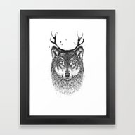Framed Art Print featuring I'm Your Deer by Balazs Solti