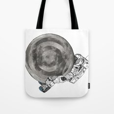 Troubled Moons and Spacemen Tote Bag