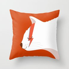 David Meowie Throw Pillow