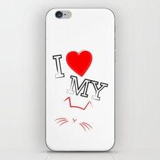 I Love My Cat iPhone & iPod Skin