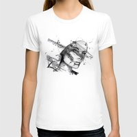 Miriam By Carographic Womens Fitted Tee White SMALL