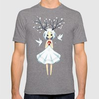 Spring Fairy Mens Fitted Tee Tri-Grey SMALL