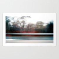 autobahn . Art Print