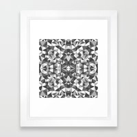 Abstract Colide Black An… Framed Art Print