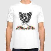 Bloom Mens Fitted Tee White SMALL