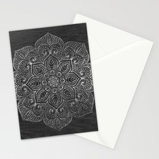 Wood Mandala - Silver Stationery Cards