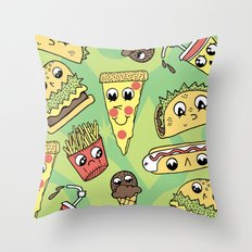 Snack Attack! Throw Pillow