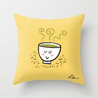 Genmaicha Tea Throw Pillow