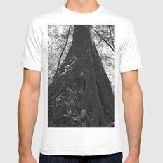 Foundation No. 2 White SMALL Mens Fitted Tee