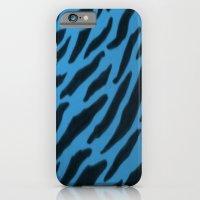 Cornflower Blue Zebra  Print iPhone 6 Slim Case