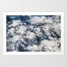 Clouds, Mountains, Above… Art Print