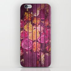 Roses on Wood Pink iPhone & iPod Skin