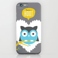 iPhone & iPod Case featuring You're a Hoot by Hello Narwhal